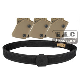 Wholesale Speed Magazine Pouch - Wholesale- IPSC USPSA IDPA Competition High Speed Shooting Inner & Outer Belt w  3x Fast Draw Pistol Magazine Pouch Mag Carrier Holster