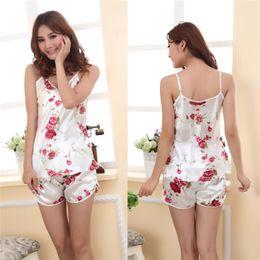 Wholesale Womens Sleepwear Shorts - Wholesale- 2016 Hot Fashion Womens Sexy Pajamas Set Blouse Shirt + Shorts Underwear Sleepwear 2 Pcs KR1