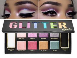 Wholesale High Glitter Eyeshadow - 2017 New Hot High qualiry Brand Makeup Glitter Bomb 10 color Eye shadow Palette PRISMATIC Glitter Eyeshadow DHL Free Shipping