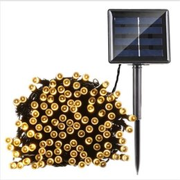 Wholesale Rechargeable Solar Batteries - 12m 100leds solar String Lights Christmas Light String Outdoor Fairy Lights Waterproof For Party