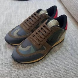 Wholesale Floor Ties - New style fabric and leather CAMOUFLAGE shoes, this elegant tie will make free delivery of the plains CAMOUFLAGE ROCKRUNNER sneakers