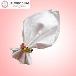 Wholesale Damask Table Decorations - 100% polyester white&ivory plain damask jacquard table napkin(bauhinia flower pattern) 100pcs a lot for wedding,party,hotel decoration use