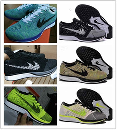 Wholesale Spike Shoes For Women - Free Shipping Top Quality Fly Racer Running Shoes For Women & Men, Lightweight Breathable Athletic Outdoor Sneakers Eur 36-45
