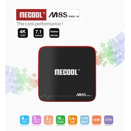 Wholesale Red 2g - M8S PRO W android tv box 7.1OS Amlogic S905W 2G 16G 2.4G Wifi H.265 Media Players Support OTA Update