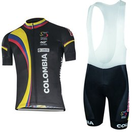 Wholesale Bib Short Mtb - Free Shipping 2017 Colombia team cycling jersey bibs shorts set quick dry MTB Ropa Ciclismo cycling wear Pro BICYCLING Maillot Culotte