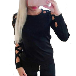 Wholesale Korean Sweater Slim Fit Black - Wholesale-Korean Women New Fashion Thin Sweater Jumper Pullover Hollow Out Long Sleeve Knit Tops Sexy Slim Fit Sweaters pull femme