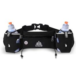 Wholesale Green Baseball Belt - Running Waist Pack Outdoor Sports Hiking Racing Gym Fitness Lightweight Hydration Belt Water Bottle Hip Bag