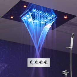 rain shower set 360500mm new design luxury shower system ceiling waterfall massage faucets thermostaic