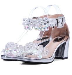 Wholesale Diamond Crystal Boots - 2017 Sexy peep toe cool boots authentic diamond crystal sandal leather comfortable and sexy women shoes Female sandals high quality DHL free