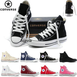 Wholesale Cheap Womens High Tops - 2017 Converse Chuck Tay Lor All Star Shoes For Men Womens High Tops mens Casual Canvas Brand Converses Sneakers Classic Cheap Shoes