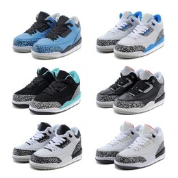 Wholesale Mixed Kid Shoes - Free shipping Youth JD3 Retro sneakers Basketball Shoes Kids High quality Sports shoes Mixed order