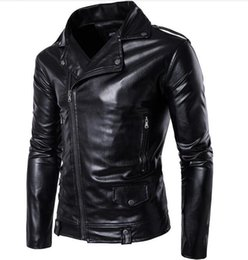 Wholesale Cheap Pu Jackets - High Quality BIG SIZE M-4XL Mens Leather Aviator Jacket Name Brand Winter Style England Style Winter Mens Leather Jackets China Cheap