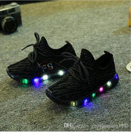 Wholesale Shoes Dot Children - hot 2017 Autumn Fashion Children Light Shoes Sport Shoes Baby Boys Girls Led Luminous Kids Sneakers Breathable Shoes