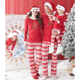 father son pajamas Coupons - Pjs Family Matching Outfits Christmas letters  Pajamas Mother Daughter Father Son 57af03394