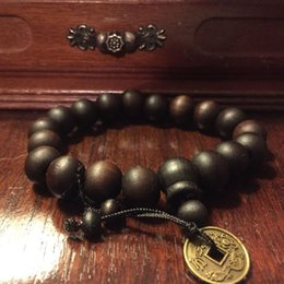 Wholesale Tibetan Wrist Beads - Wholesale-Buddhist Tibetan Decor Prayer beads Bracelet Bangle Wrist Ornament Wood Buddha Beads men Jewelry Religion Charm Buddhist Tibet