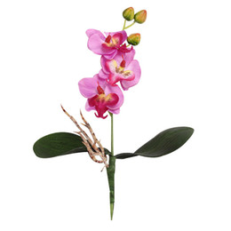 Wholesale Orchids Quality - Wholesale-High Quality Triple Head Artificial Butterfly Orchid Silk Flower Home Wedding Decor