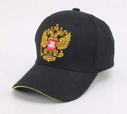Wholesale russian embroidery - 2017 Outdoor Fitted Baseball Caps Russian Emblem Golf Hats for Men Embroidery Snapback Fashion Sports Hats For Men Women Patriot Cap