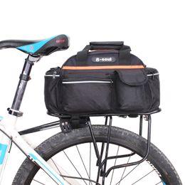 Wholesale Cycling Rear Bag - B-SOUL Bicycle Bag Multifunction 14L Bike Tail Rear Bag Saddle Cycling Pannier Bicicleta Basket Rack Trunk Bag Shoulder Handbag