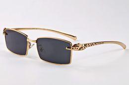 Wholesale Plastic Sports Horn - 2017 designer luxury sunglasses eyeglasses buffalo horn glasses spot leopard panther gold metal legs fashion sunglasses lunettes homme