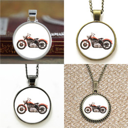 Wholesale Vintage Motorcycle Glasses - 10pcs Vintage Motorcycle Motorbike Necklace keyring bookmark cufflink earring bracelet