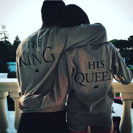 Wholesale Couple Tshirt Print - Women T Shirt O Neck Couple T-Shirt King Queen Fashion New Style Full Sexy Vetement Femme Tshirt Women