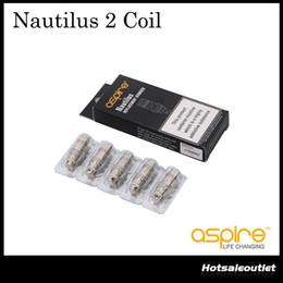 Aspire nautilus bvc bobinas online-Aspire Nautilus BVC Bobinas Cabeza Reemplace la bobina para Aspire Nautilus Mini Nautilus 2 Tanque 0.7 1.6 1.8ohm Bobina vertical inferior inferior 100% original