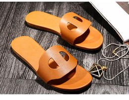 Wholesale Women Cow Slippers - Hot European Cow Genuine Leather Flat Shoes Elegant Comfortable Lady Fashion Slippers Woman Brand Outdoor Beach Sandals Pig Nose Shoes