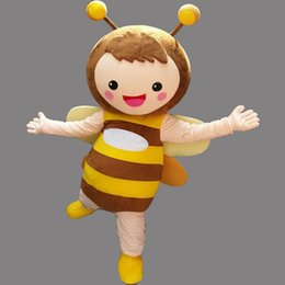 Wholesale Make Bee Costume - Cute Bee Mascot Costume Fancy Birthday Party Dress Halloween Carnivals Costumes With High Quality Free Shipping