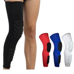 Wholesale Knee Support Leggings - Wholesale- 1pcs Basketball football breathable warmth riding fitness anti-collision Leggings protector leg knee pad knee support