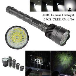 2019 ultrafire q5 mini zoomable taschenlampe 30000 lumen cree xm-l led 12x t6 super taschenlampe lampe licht mit 5 schalter modus für outdoor / camping / wandern lef_00x
