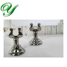 Wholesale Place Card Stands - wedding place card holders table number holder gold silver table card stand table decoration stainless 4cm business card standing holders