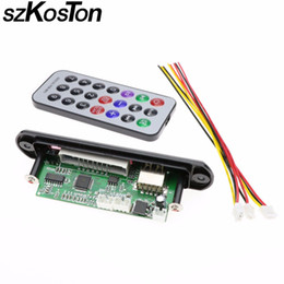 Wholesale Usb Bluetooth Module - Wholesale- szKosTon Remote Music Speaker w SD card slot USB FM remote Without bluetooth M011 USB MP3 Decoder Decoding Board Audio Module