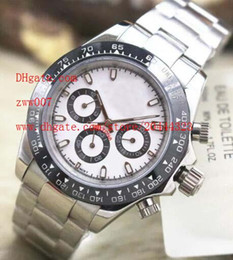 Wholesale Mechanical Chronograph Watches - Factory Supplier Luxury AAA Brand Sapphire 40mm White Dial Ceramic bezel 116509 Automatic Mechanical Mens Watch Watches No Chronograph