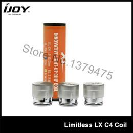 Wholesale atomizer c4 - Wholesale- Original IJOY Limitless XL Atomizer Head 0.15ohm XL-C4 e cig Core Coil For Limitless XL RTA Tank 3Pcs Lot
