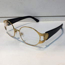 Wholesale glasses brand frame optical - VE 2134 Luxury Popular Glasses Round Frame Fashion Men Brand Designer Restoring ancient Optical Lens Steampunk Summer Style Comw With Case