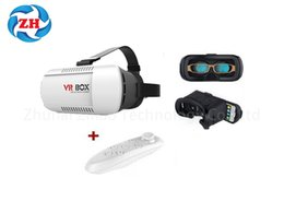 Wholesale 3d Video Headsets - VR BOX V2.0 Universal 3D Virtual Reality Glasses Headset + Bluetooth Remote for smart phone 3.5inch-6.0inch Android IOS games videos movie