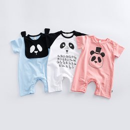 Wholesale Wholesale Boys Boxer Shorts - 2017 new Infant clothing baby panda boxer short-sleeved coveralls climbing clothes