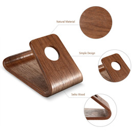 Wholesale Light Base Stand Wholesale - Explosion phone Holders, lazy creative mobile phone stand, office charging, phone wooden base simple