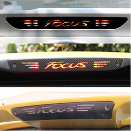 Wholesale Fiber Tail - Carbon Fiber Stickers And Decals High Mounted Stop Brake Lamp Light Car Styling For Ford Focus 2 3 MK2 MK3 2005-2017 Accessories