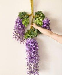Wholesale Photography C - estive Party Supplies Decorative Flowers Wreaths Wisteria Vines 12pcs 105cm Artificial Wisteria Flower Garlands for Wedding Photography C...
