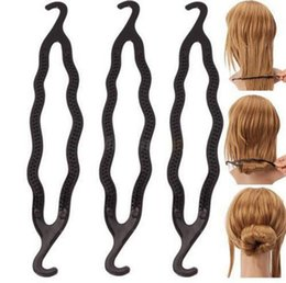 Wholesale Twist Styling Braid Tool - Magic Hair Pony Tail Maker Plastic Hair Styling Bun Maker Shaper Braid Holder Clip Twist Tool Hair Twist Styling Clip