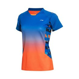 Li-Ning Männer Frauen Professionelle Badminton Shirts Schnell trocknend NEU Li Ning Atmungsaktives Jersey Sport Athletisch T-Shirt, Tischtennis-Shirt AAYK128 von Fabrikanten