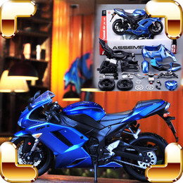new arrival gift diy 1 12 model motorcycle car collection series alloy frame assemble toys kids education family game present