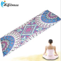 Wholesale Beach Towels Beige - Wholesale-Yoga Towel in Paisley Blankets For yoga Sport Fitness Exercise Low Tide Suede Beach Throw Anti-slip Yoga mat Towel