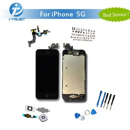 Wholesale Touch Display Iphone 5g - LCD Display Touch Screen Digitizer Full Assembly Set for iPhone 5G Repair Replacement Parts+Repair Tools & Free Shipping