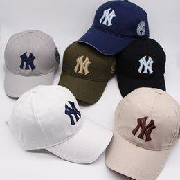 Wholesale Ny Cap Color - 10 Color Yankees Hip Hop Baseball Caps NY Hats MLB Unisex Sports New York Adjustable Bone Women casquette Men Casual headware 50PCS