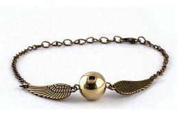 Wholesale Harry Bracelet - Wholesale- 2016 Hot Selling bracelets Bangles The Movie Gold-plated for hallows Harry Bracelet Drop men free Shipping