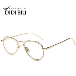 827d4f6fb3ca4 DIDI 2017 Italiano Ouro Aviador Strass Óculos De Sol Das Mulheres Barroco  Claro Óculos de Sol Aro Piloto Feminino Óculos de Espelho O Fino Eyewear  H719