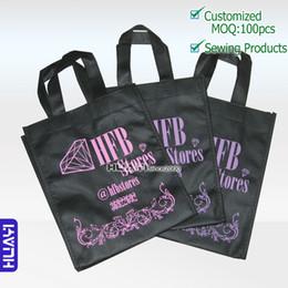 Wholesale Wholes Sale Weave - Wholesale- whole sale Custom Logo Printing non woven bag Reusable adv&promotion tote bags