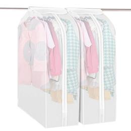 Atacado M / L Roupas Transparentes Tampa Protetora Contra Poeira Sacos De Armazenamento De Vestuário Garment Protector À Prova de Poeira Saco De Armazenamento Organização de Fornecedores de saco de pó roupa